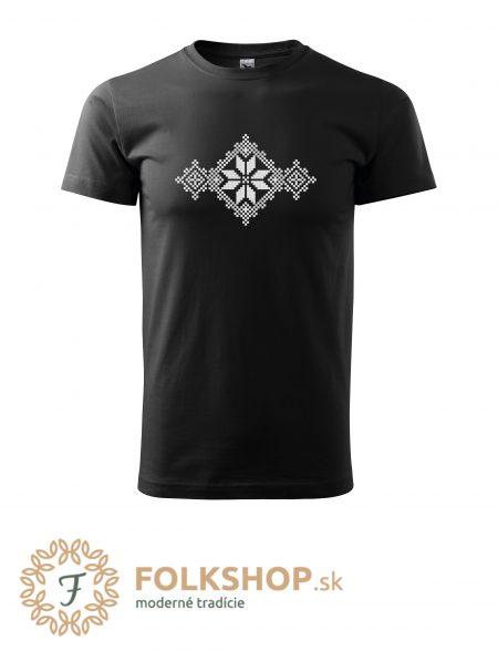 pánske tričko s folklornou výšivkou