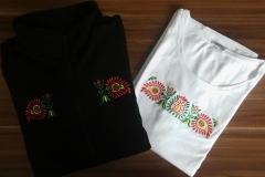 Tričko a bunda s ľudovou výšivkou od Folkshop.sk - vzor 03
