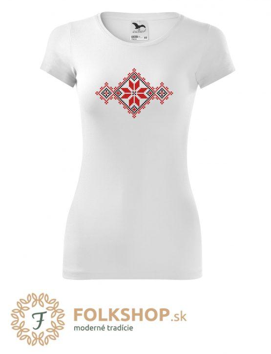 dámske biele folklorne tričko