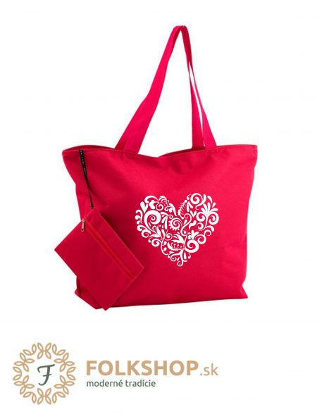 plazova taška červená
