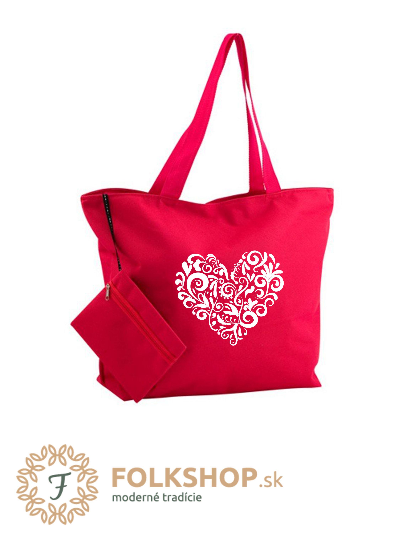 Plážová taška- červená 17  975d35cf873