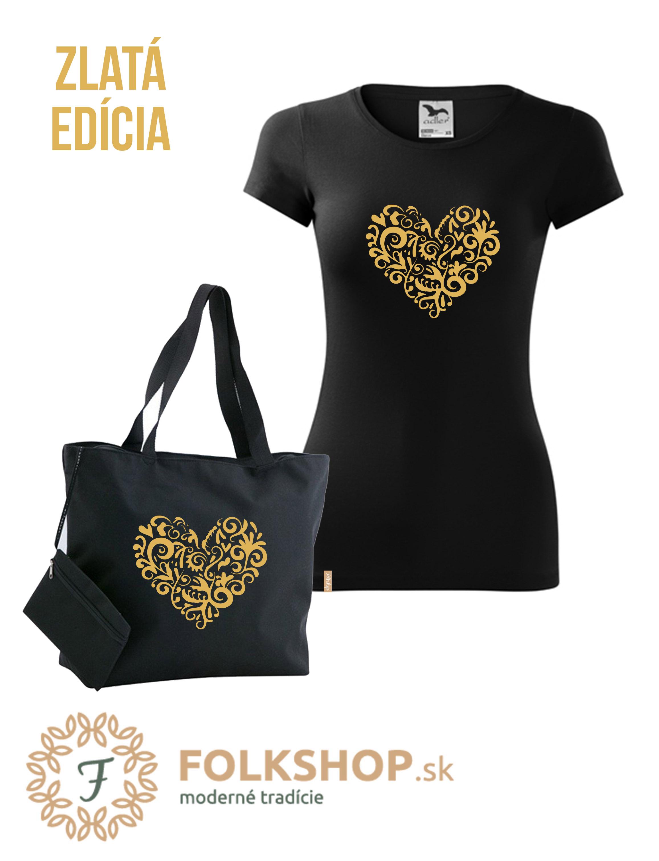 💛 Gold set   dámske tričko + plážová taška  b5d10c47afe