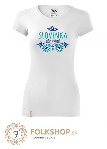 dámske tričko_slovenka ako vyšitá