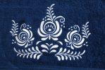 modrý uterák detail