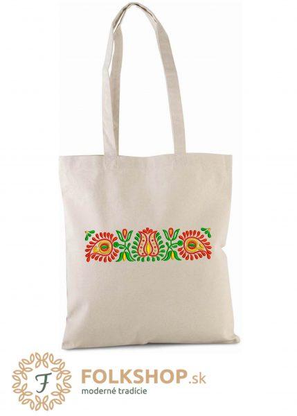 Naturálna nákupná taška s pestrou výšivkou_vzor 03