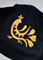 čierne-s-výšivkou---zlatý-vtáčik-detail