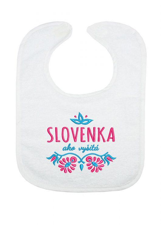 Slovenka-ako-vyšitá_froté-podbradník