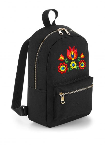 Malý čierny ruksak, zlaté zipsy, V50ruksask