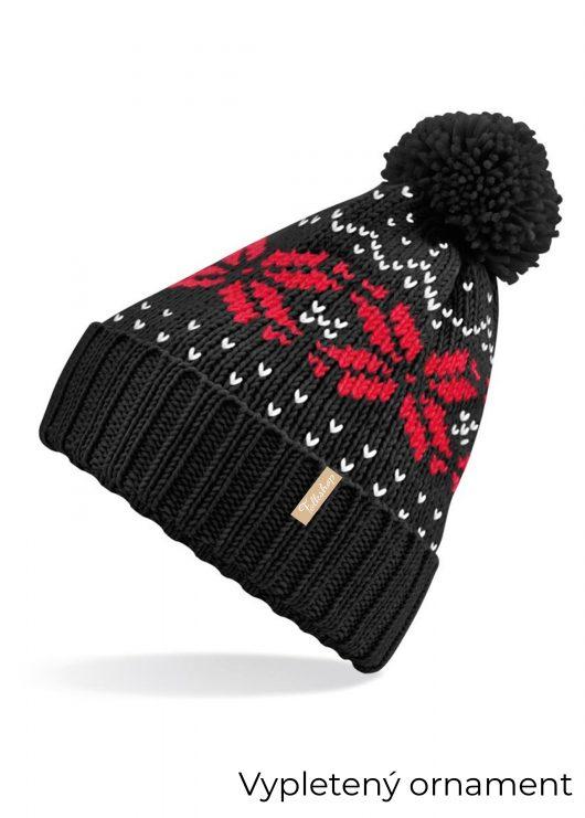 Čierna-čiapka-s-bielo-červeným-motívom-20