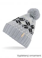 Sivá-čiapka-s-čierno-bielym-motívom